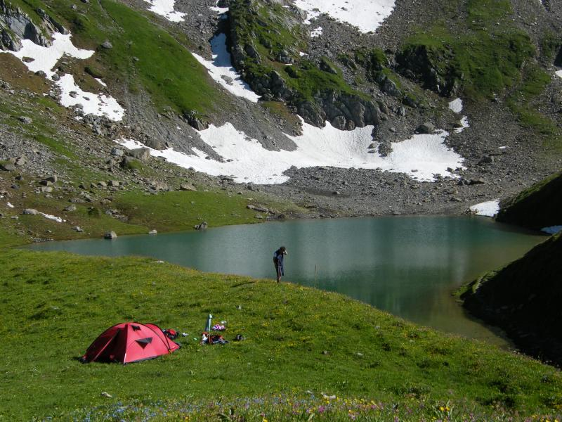 bivouak au lac d'Amour