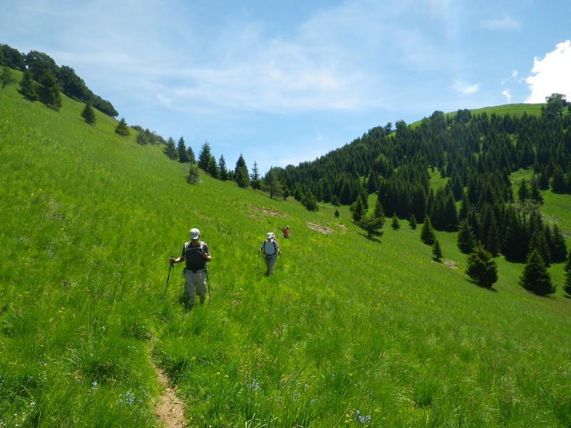 Descente apr�s le col St Jean