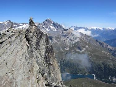 Pointe nord, Dent Parrach�e et Plan d'Amont