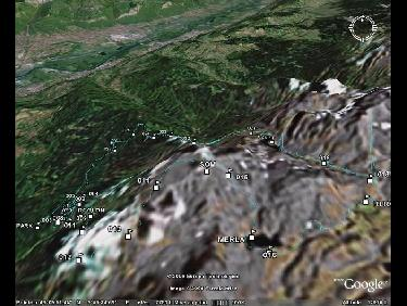 Profil sur Googleearth